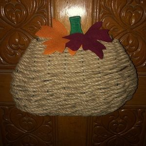 Pumpkin wreath, Fall wreath, handmade